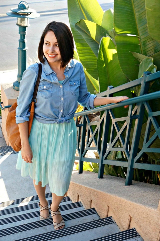 How to wear a dress as a skirt