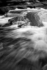 Black stone & white water_Presque Isle River Falls