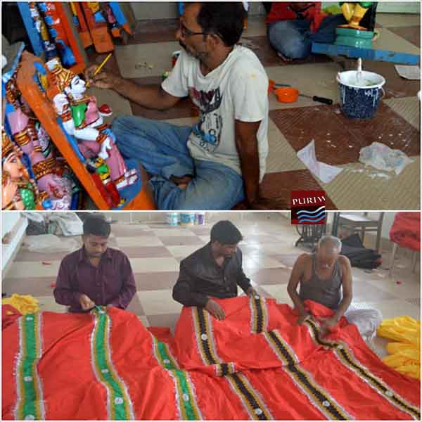 Work of Chitrakar & Suchikar during chariot making
