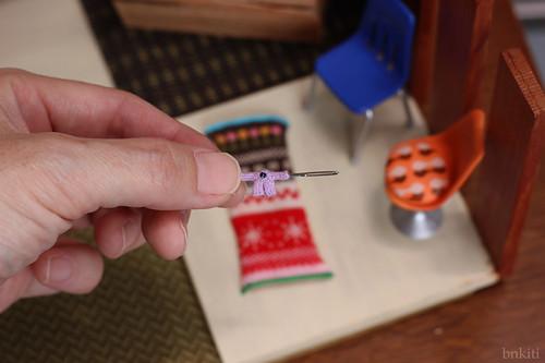 micro miniature sweater, lavender
