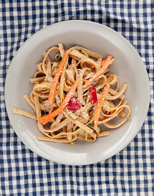 Cold Peanut Butter Pasta Salad