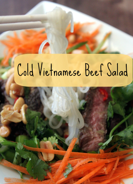 Cold Vietnamese Beef Salad Header