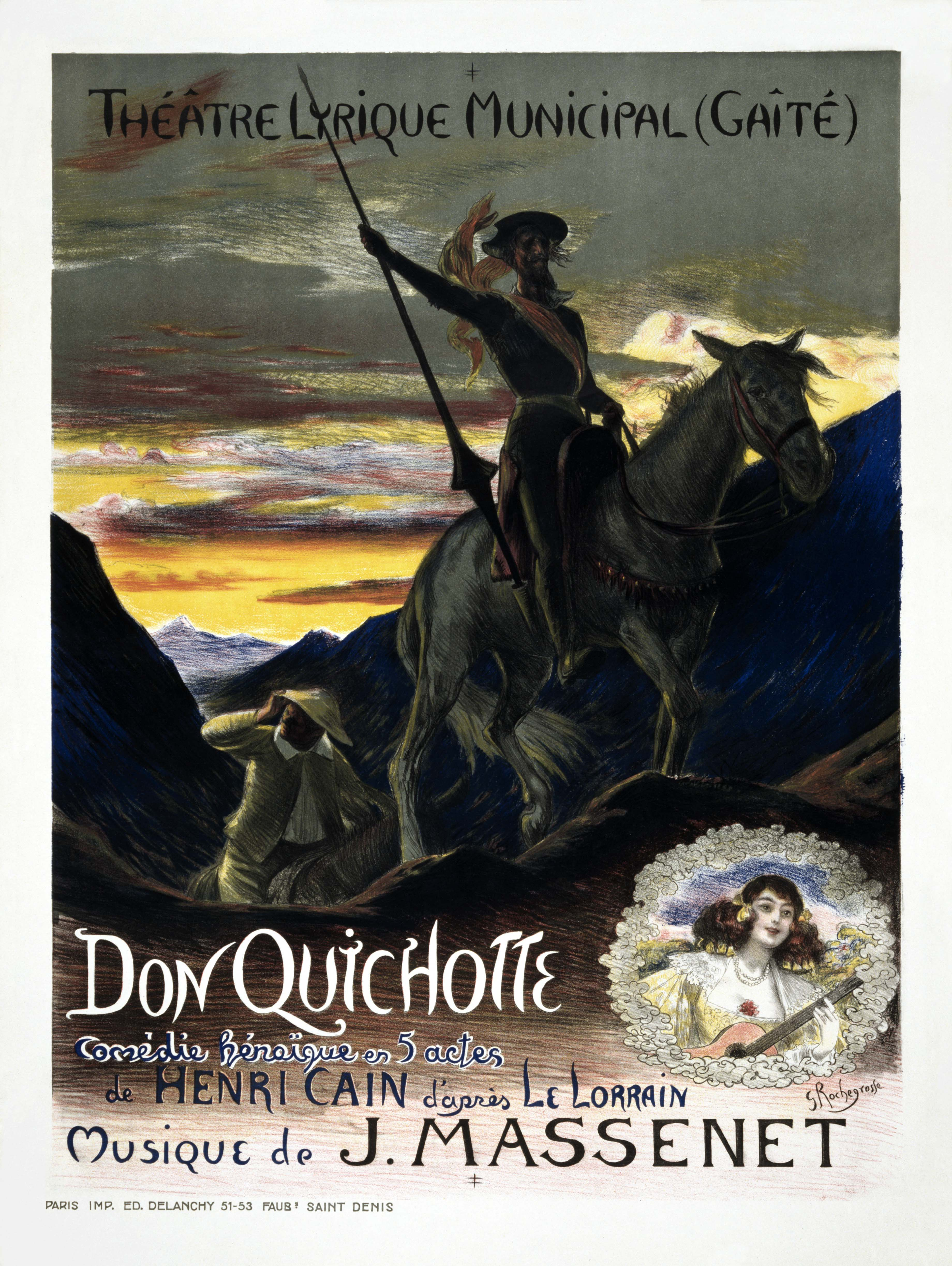 Georges Rochegrosse, Plakat für Jules Massenet, Don Quichotte