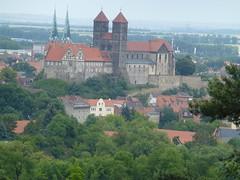 Blick nach Quedlinburg