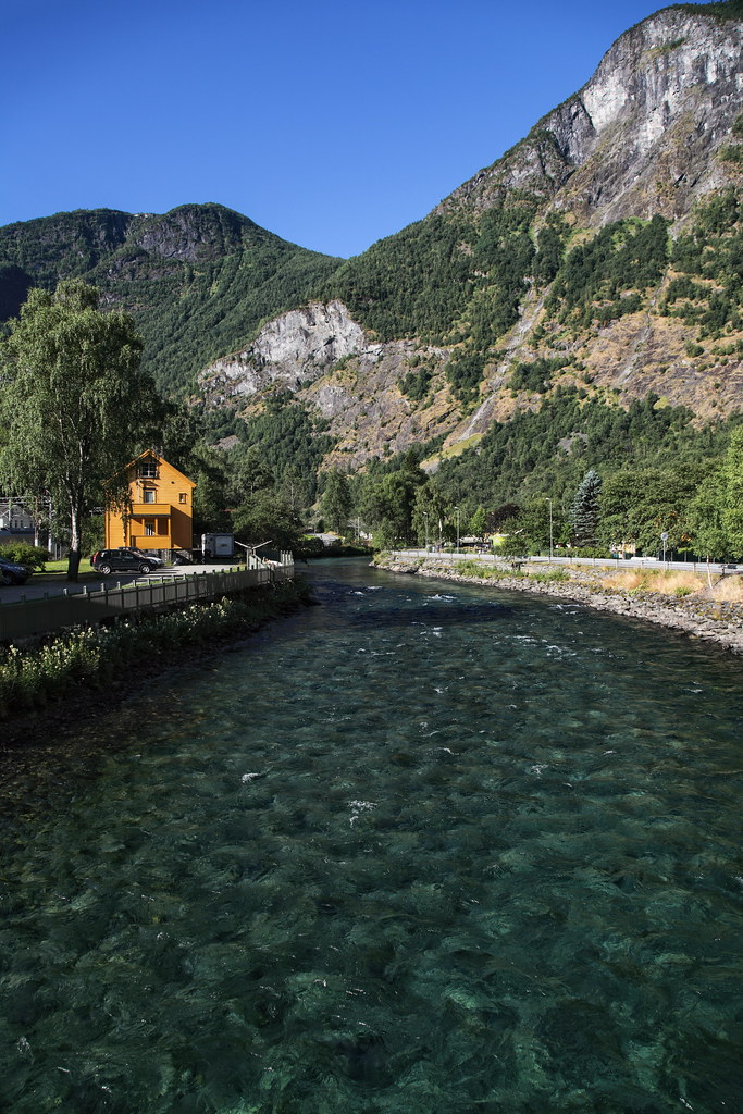 Flåm is a village in Flåmsdalen, at the inner end of the Aurlandsfjorden