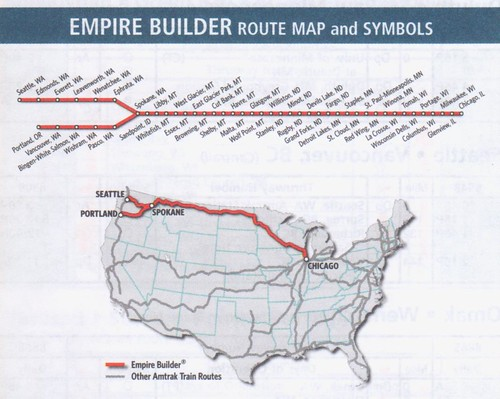 Amtrak Empire Builder 2014 Map