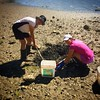 The mom and daughter that dig clams together stays together!