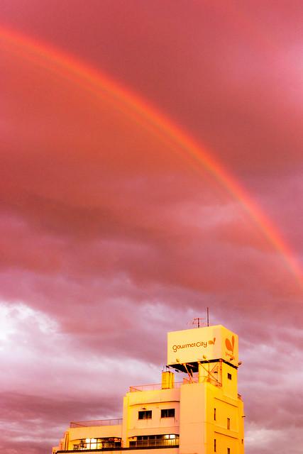 Rainbow into the Sunset