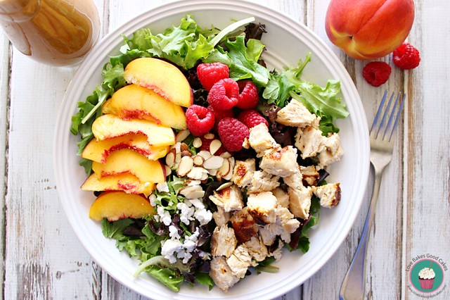 Peach and Raspberry Chicken Salad