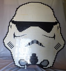 Storm-trooper Head V.1.0 (with mini-fig for scale)