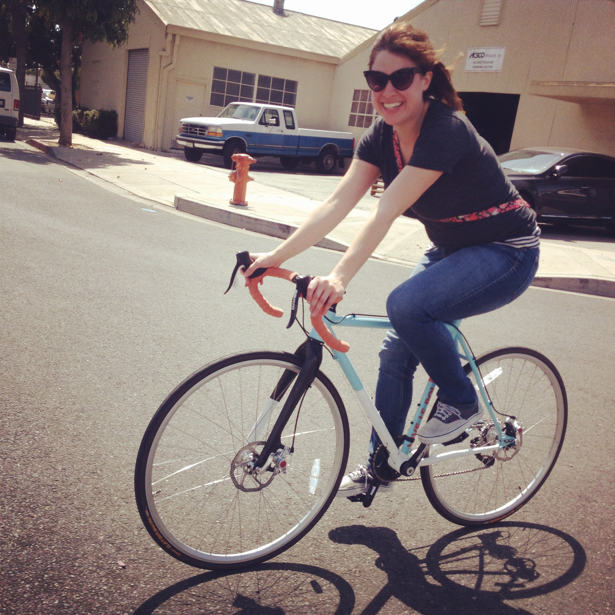 Katie on a bike!