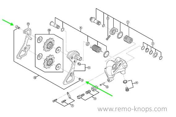Fibre Lyte Gear Mech Plate Shimano, Sram, Campagnolo - Installation