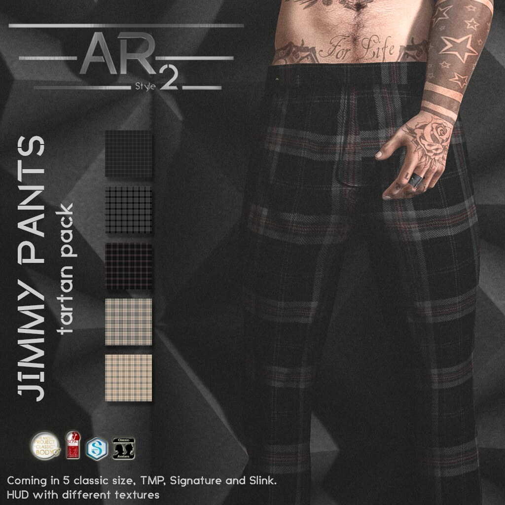 [AR2 Style] Jimmy Pants Tartan Pack - SecondLifeHub.com