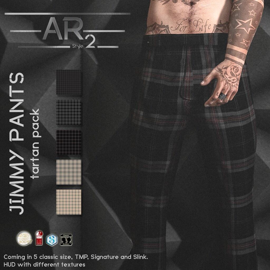 [AR2 Style] Jimmy Pants Tartan Pack - SecondLifeHub.com