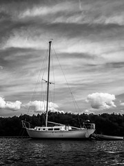 Sailboat (B&W)