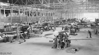 18 Spitfires at 156 MU, RAF Blida