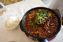 Sichuan-Style Boiled Beef with Chili sauce @ Fire Town @ Montparnasse @ Paris