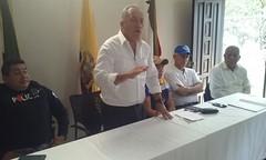 Inspección de trabajos construcción planta de tratamiento de agua parroquia Eloy Alfaro