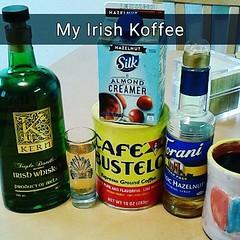 #goodmorning & #happysunday ! #irishcoffee #koffee w/#kern #irishwhiskey #cafebustelo #silkcreamer #torani #hazelnutsyrup #sundayfunday
