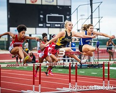 District 27-6A girls varsity 300m hurdles #ok3sports #sportsphotography #tracknation #trackandfield
