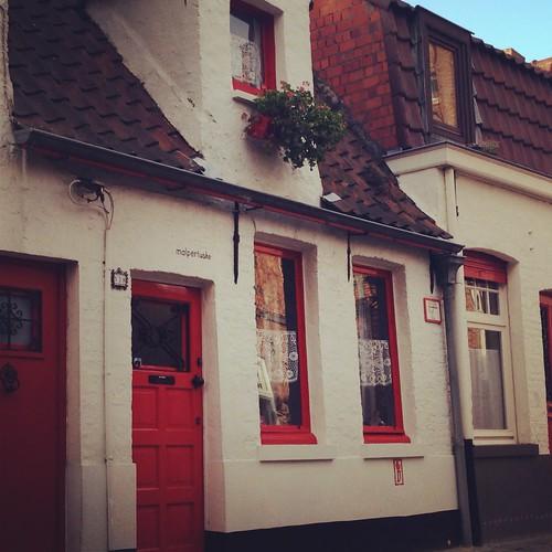 Vieille maison à Bruges, Belgique