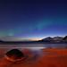 Grøtfjord beach nightview by John A.Hemmingsen