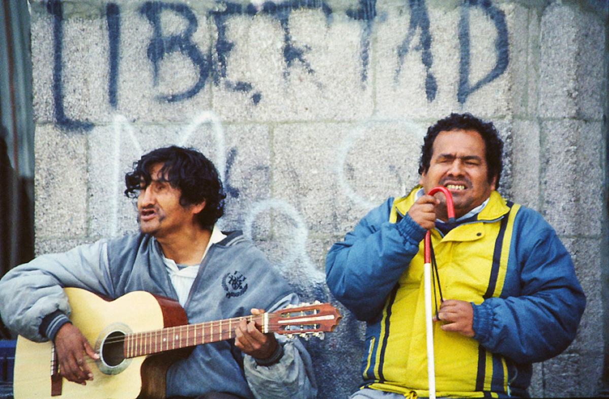 Tour du monde à vélo - Le défi du retour - Zicos aveugles à La Paz