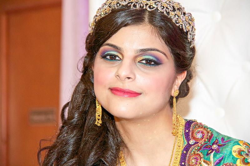 fabulous colorful crystal henna bridal headpiece