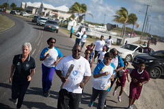 Hon. George Lightbourne relays the Queen's Baton in  Grand Turk Island, Turks and Caicos Islands, Thursday 17 April 2014. Turks and Caicos Islands is nation 56 of 70 nations and territories the Queen's Baton will visit....