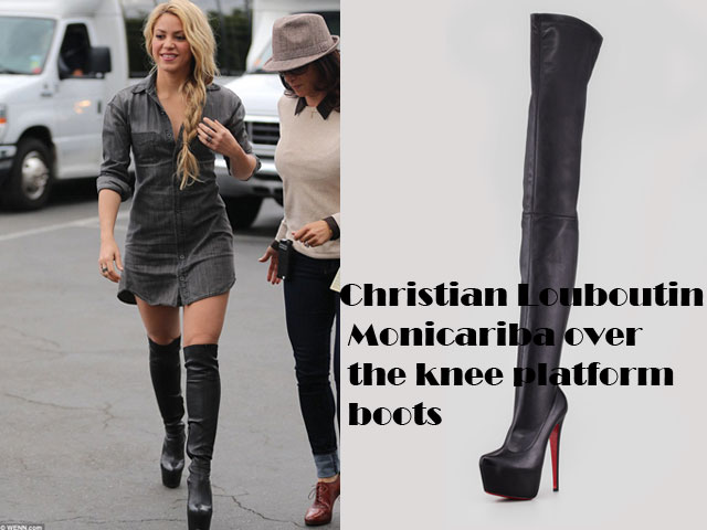 best loved 653f1 19df9 Christian Louboutin Monicarina over the knee platform boots ...