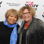 Thu, 08/05/2014 - 6:08pm - WFUV's 2014 Artist of the Year Mavis Staples with WFUV Program Director Rita Houston. At Gotham Hall, NYC, May 8, 2014. Photo by Chris Taggart