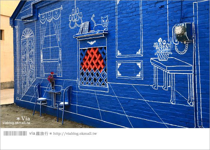 【彰化景點推薦】乳牛彩繪村(福寶村)~數百頭彩色小牛+夢幻藍晒圖的彩色村36