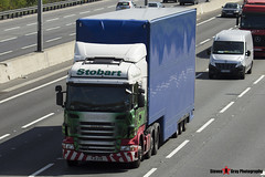 Scania R440 6x2 Tractor with 3 Axle Box Trailer - PJ11 AVW - Victoria Elaine - Eddie Stobart - M1 J10 Luton - Steven Gray - IMG_7965