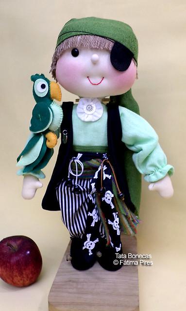 Piratinha e seu mascote! : )
