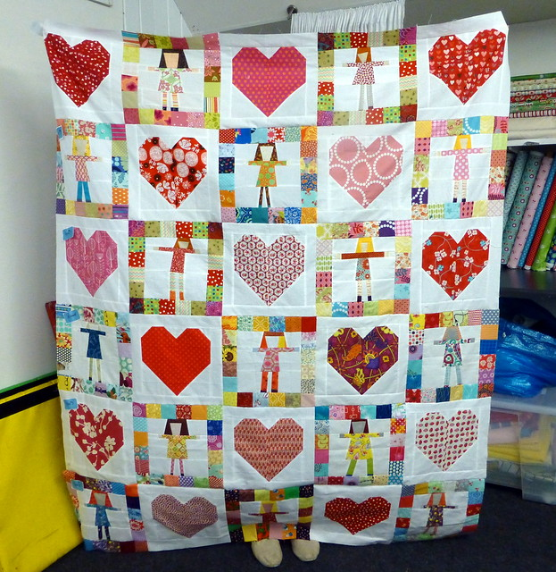 Pippi/Heart Quilt 1 - Bee Blessed