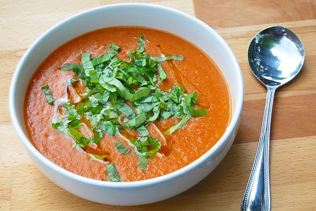 Leftover Bread & Tomato Soup