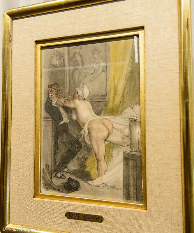 Naked woman by Felicien Rops, a belgian artist