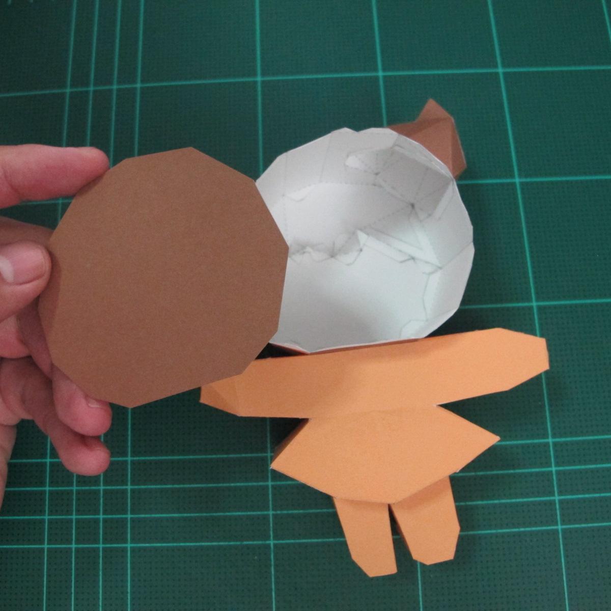 วิธีทำโมเดลกระดาษตุ้กตา คุกกี้สาวผู้ร่าเริง จากเกมส์คุกกี้รัน (LINE Cookie Run – Bright Cookie Papercraft Model) 024