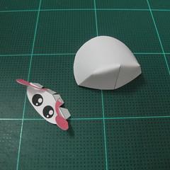 วิธีทำโมเดลกระดาษรูปเต่าทองแบบง่ายๆ (Easy Ladybug Papercraft Model) 005