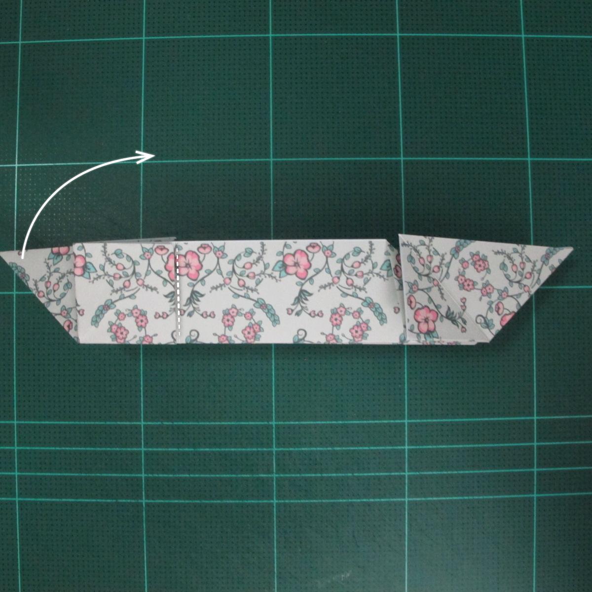 วิธีพับกระดาษรูปหัวใจคู่ (Origami Double Heart)  016