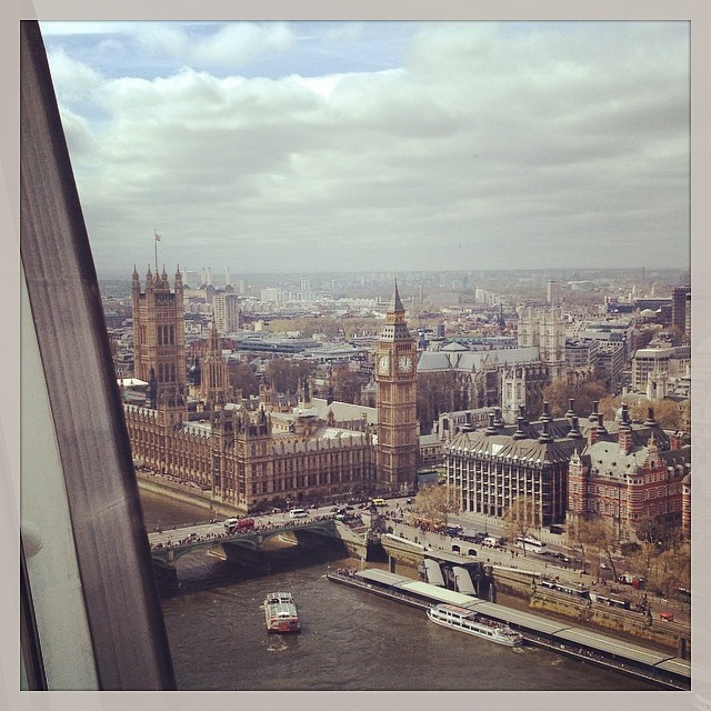 View of Parliament from the London Eye.