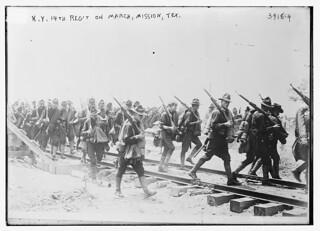 N.Y. 14th Reg't. on march, Mission, Tex. (LOC)