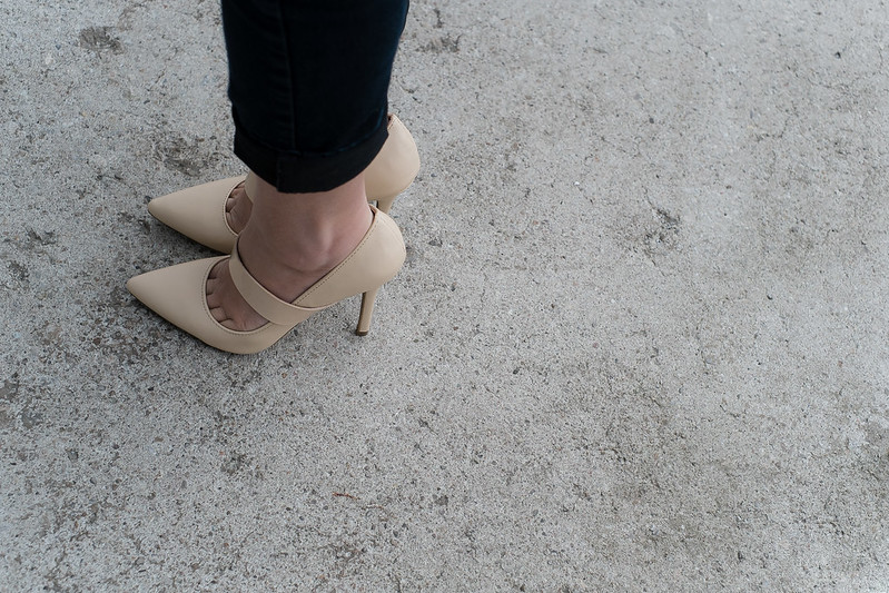 forever 21 pointy toe nude pumps