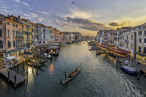 travel venice sunset photography grandcanal rialto