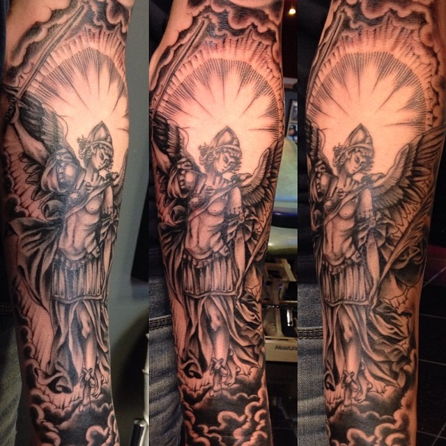 Half Sleeve Religious Tattoo