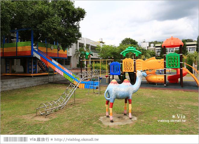 【彰化村東國小】彰化彩繪國小~夢幻繪本風!童話小屋居然在校園裡現身了34