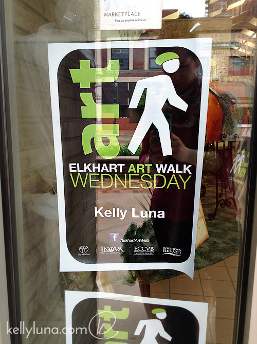 Art walk door poster