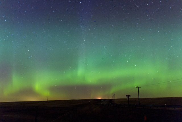 Northern Lights by Crossfield Alberta