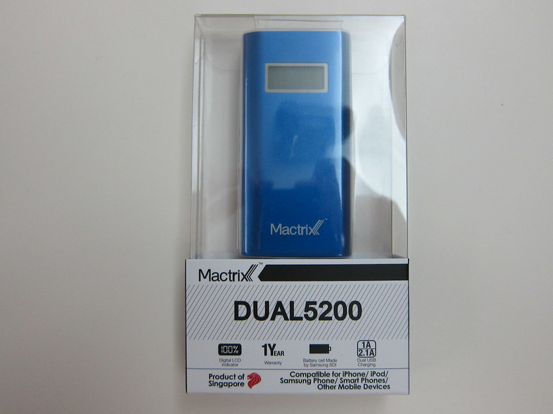 Mactrix Dual 5200 Portable Battery - Packaging Front