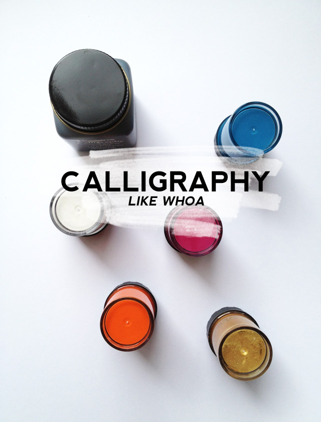calligraphy, gouache calligraphy ink, dr ph martin's copperplate gold, oblique calligraphy pen